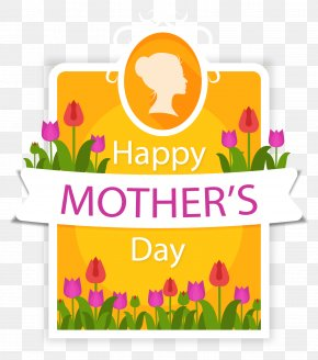Purple Tulip Mother's Day Card - Mothers Day Clip Art PNG