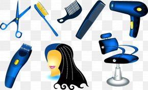 Hair Barber - Comb Hair Care Hairstyling Product Hairdresser Hair Dryer PNG