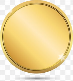 Vector Painted Gold Label - Circle Download Computer File PNG