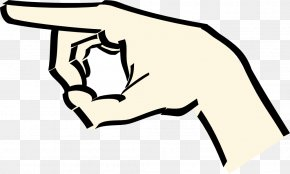 Hand Pointing Clipart - Hand Index Finger Clip Art PNG
