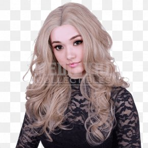 Lace Wig - Blond Lace Wig Hair Coloring PNG
