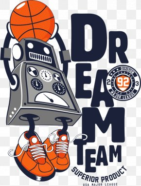 Vector Printing Robot Shooting - T-shirt Philadelphia 76ers 1992 United States Men's Olympic Basketball Team NBA PNG