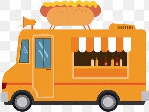 Street Food American Food - Cartoon School Bus PNG
