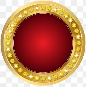 Seal Gold Red Transparent Clip Art Image - Gold Clip Art PNG