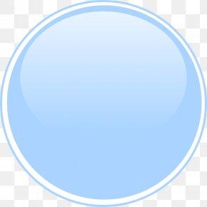 Light Blue - Light Blue Circle Button Clip Art PNG