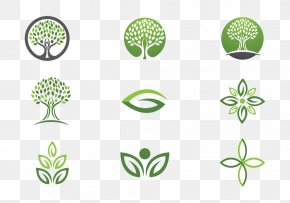 Cartoon Tree Logo High-definition Buckle Material - Logo Euclidean Vector Leaf Tree PNG