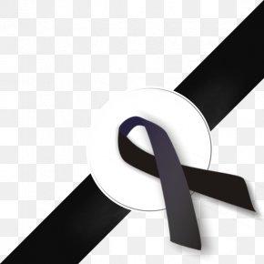 BLACK RIBBON - Black Ribbon Awareness Ribbon Clip Art PNG