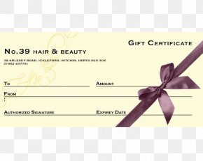 Gift - Gift Card Voucher Cosmetologist Hair PNG