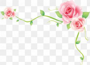 Flower - Borders And Frames Flower PNG