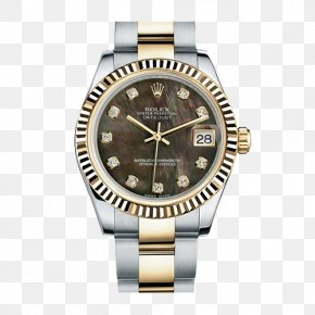 ROLEX Log Ms. Mechanical Watches - Rolex Datejust Watch Blue Diamond PNG