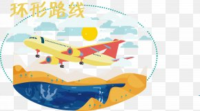 Flight Ring Route Vector - Flight Airplane Aircraft PNG