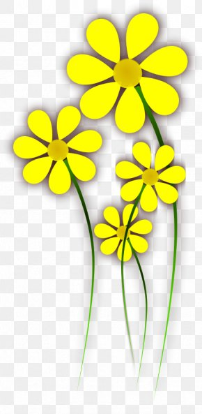 Yellow Cliparts - Flower Yellow Clip Art PNG