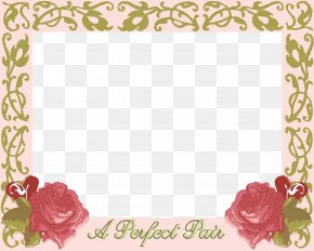 Image Wedding Frame - Wedding Invitation Picture Frames Garden Roses PNG