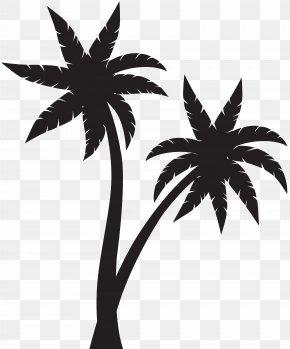 Palms Silhouette Clip Art - Arecaceae Silhouette Clip Art PNG
