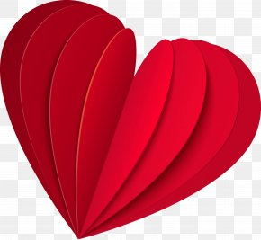 Hearts - Heart Paper Valentine's Day Love Clip Art PNG