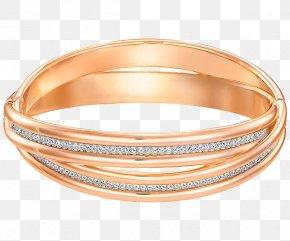 Swarovski Jewelry Gold Diamond Bracelet - Bangle Swarovski AG Gold Plating Bracelet PNG