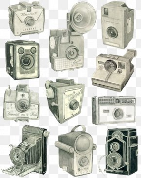Camera - Glasgow Drawing Camera Photography Illustration PNG
