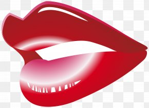 Red - Mouth Lip Clip Art PNG