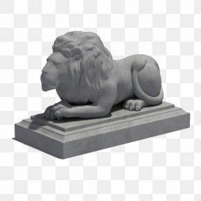 Lion - Sculpture 3D Modeling Statue Autodesk 3ds Max 3D Computer Graphics PNG