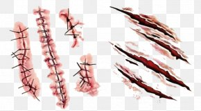 Scar Hand-painted - Scar Tattoo Wound Blood PNG