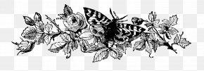 Flower Black - Black And White Graphic Design Clip Art PNG