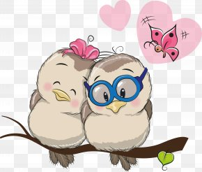 Love Birds - Cartoon Love Clip Art PNG