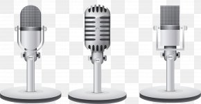 Textured Gray Microphone - Microphone Grey Audio Equipment PNG