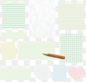 Vector Collection Of Hand-painted Paper Sticky Notes - Paper Pencil PNG