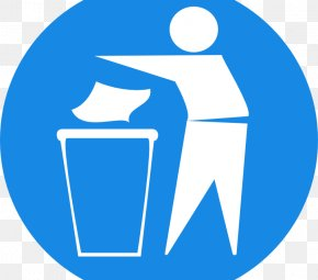 Trash Can Sign - Waste Container Sign Clip Art PNG