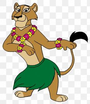 Lion - Lion Hula Madagascar Cartoon Clip Art PNG