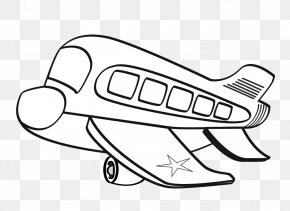 Black And White Airplane Pictures - Airplane Aircraft Black And White Clip Art PNG
