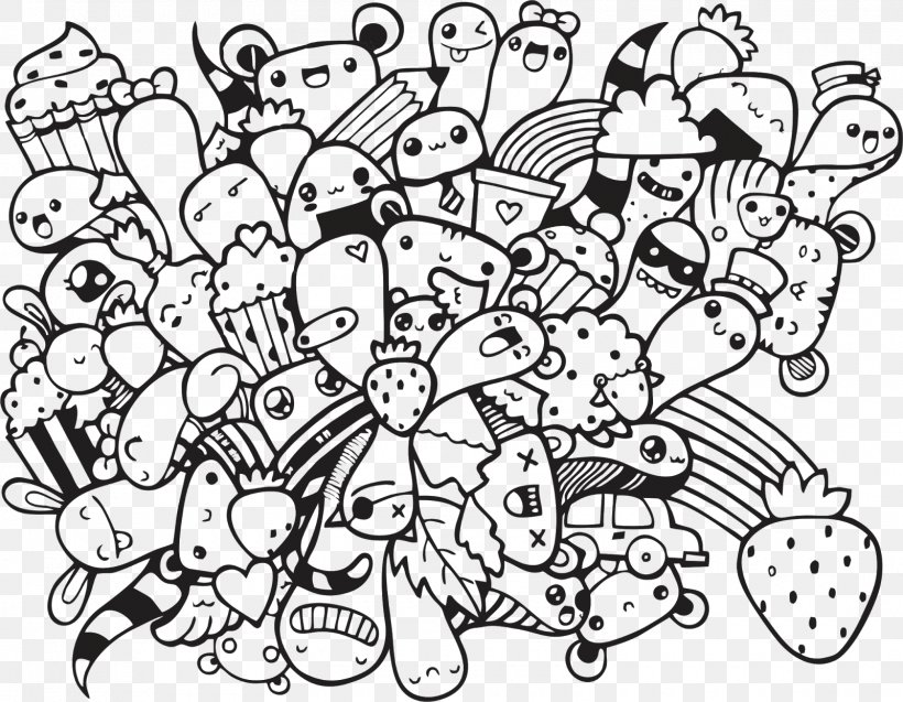 - Doodle Coloring Book Art Drawing, PNG, 1600x1243px, Doodle, Adult, Art,  Artist, Black And White Download Free