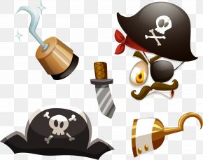 Vector Hand Painted Pirate Pattern - Piracy Royalty-free Clip Art PNG