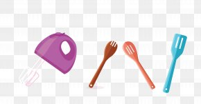 Vector Color Tableware Kitchen Tools - Spoon Kitchen Tableware Tool Fork PNG