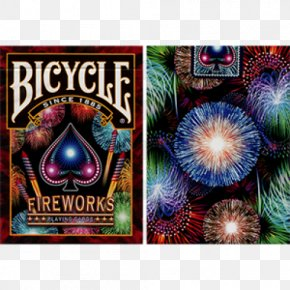 Beautiful Fireworks - United States Playing Card Company Bicycle Playing Cards Magic Card Game PNG