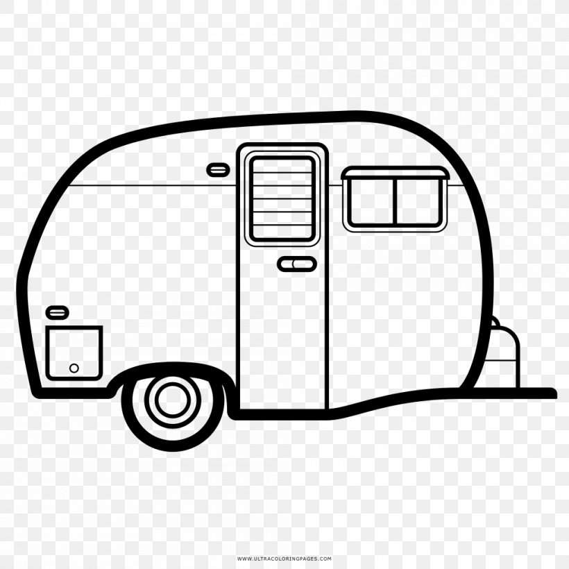 Drawing Caravan Campervans Coloring Book Motor Vehicle Png 1000x1000px Drawing Area Auto Part Automotive Design Black