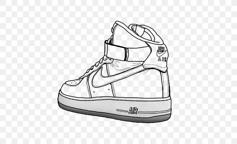Cerdo biografía Estudiante  Air Force Nike Drawing Shoe High-top, PNG, 500x500px, Air Force, Air Force  One, Air Jordan,