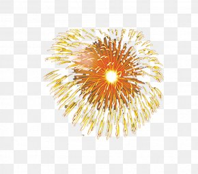 Yellow Festive Fireworks Effect Elements - Adobe Fireworks PNG
