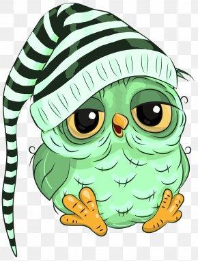 Headgear Cartoon - Green Owl Cartoon Clip Art Headgear PNG