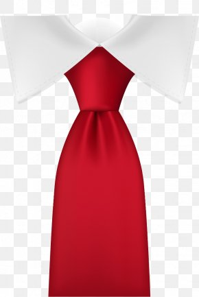 Vector Tie - Necktie Satin Red PNG