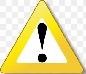 Yellow Background - Warning Sign Clip Art PNG