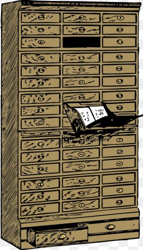 Cliparts Wood Cabinet - Drawer Filing Cabinet Flat File Clip Art PNG
