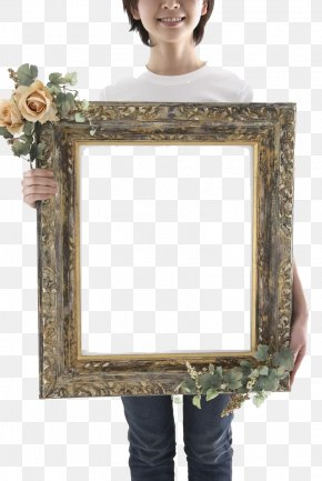 Child Holding A Photo Frame - Picture Frame Photography PNG