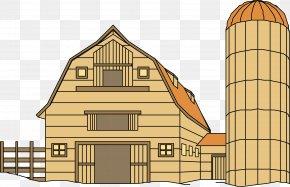 Garden House - Silo Barn Farm Clip Art PNG