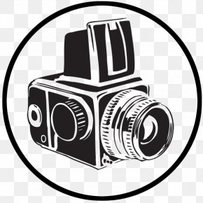 Camera Line Art - Black And White Line Art Photography Clip Art PNG