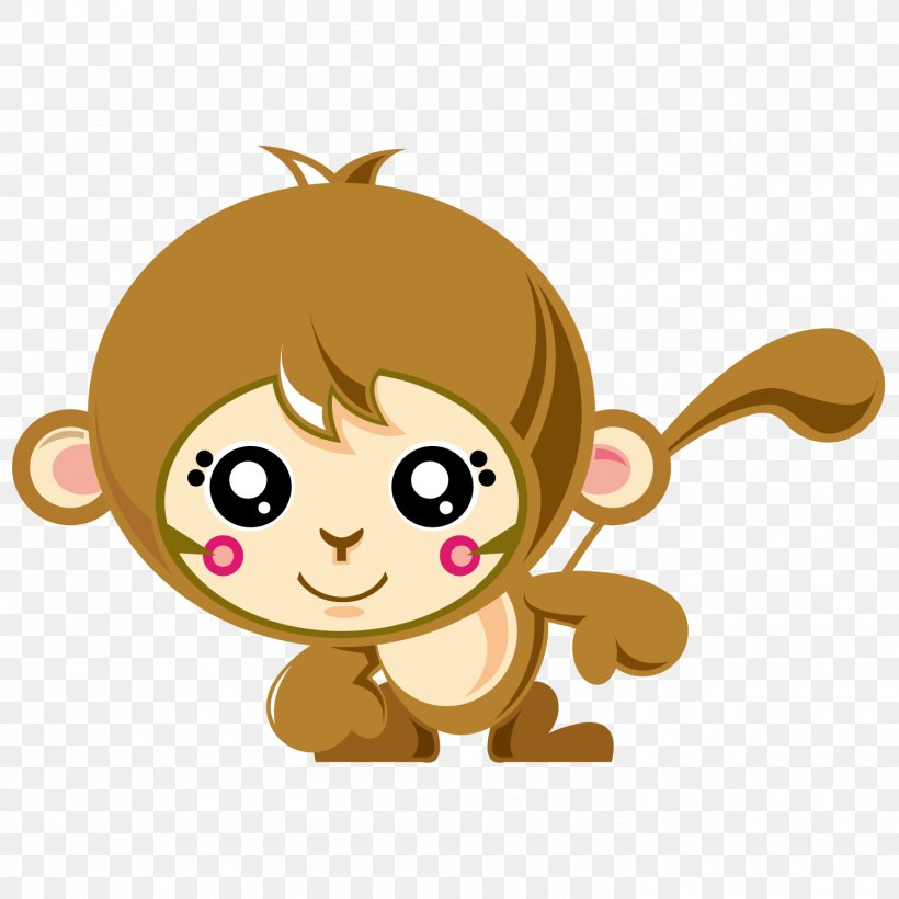 Monkey Cartoon, PNG, 1500x1501px, Monkey, Art, Cartoon, Child, Cuteness Download Free