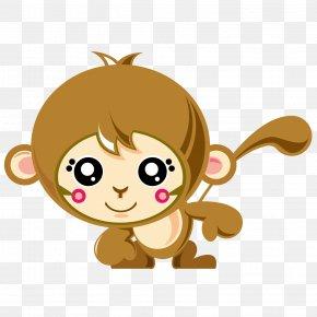 Cute Monkey - Monkey Cartoon PNG