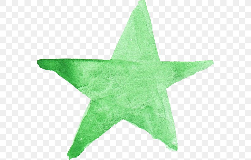 Watercolor Painting Green Star Leaf, PNG, 580x525px, 52hertz Whale, Watercolor Painting, Brush, Com, Doodle Download Free
