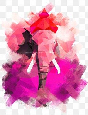 Elephant Illustration - Graphic Design Work Of Art Illustration PNG