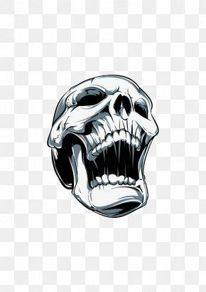 Skull - Skull Screaming Clip Art PNG